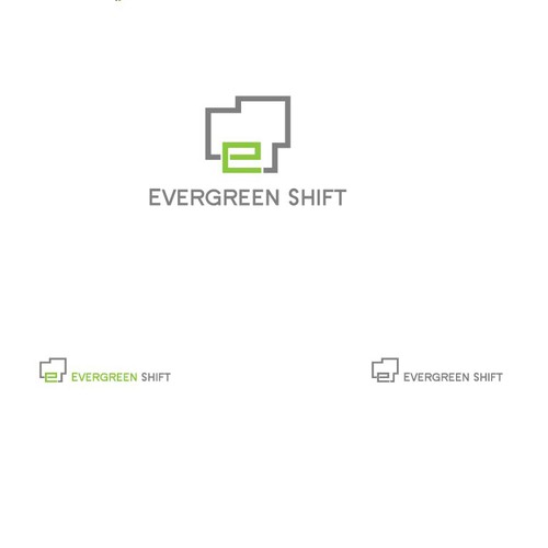 Convey the concept of perpetual change through the logo for Evergreen Shift
