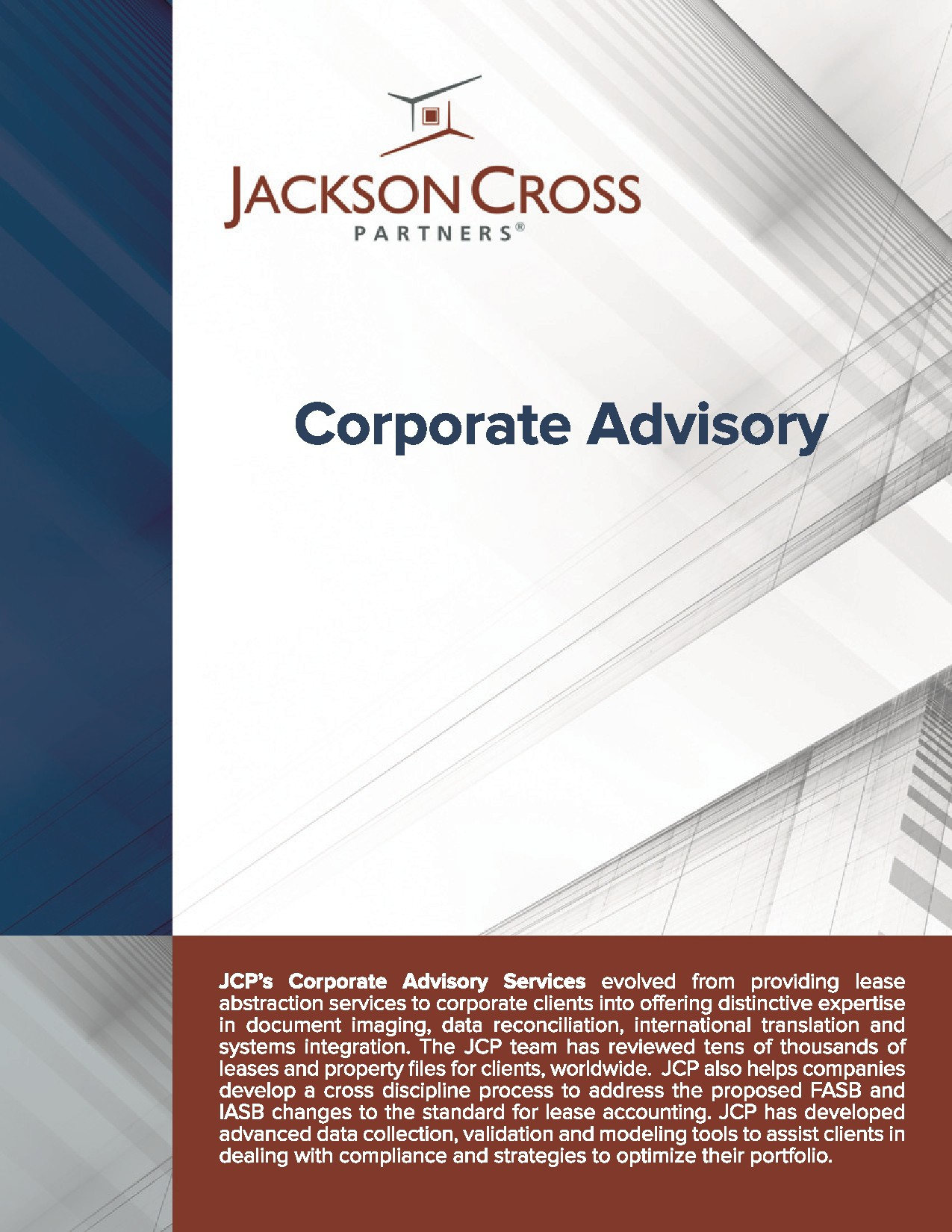 Brochure for Commercial Real Estate Company
