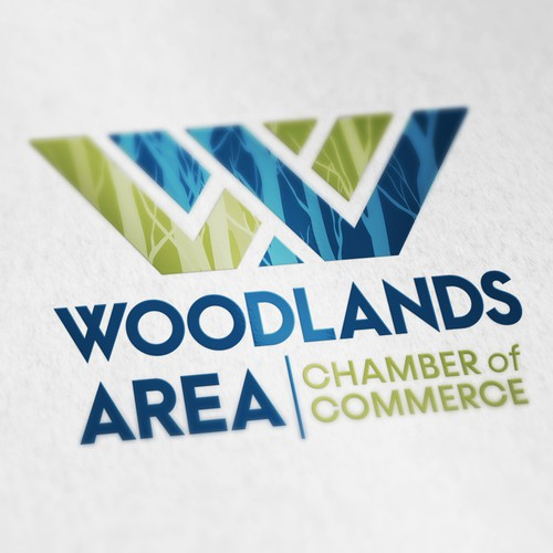 Logo design for Woodlands Area Chamber of Commerce
