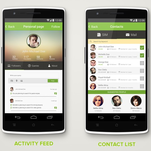 Social, Modern and Cool Android App that helps you search