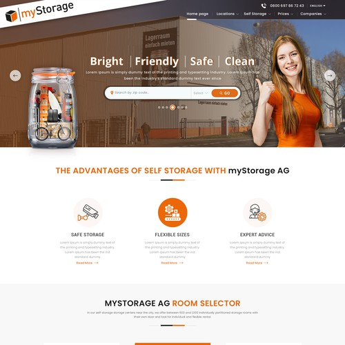 Landing Page Design for myStorage