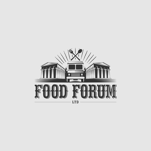 Food Forum - Logo design for a street food collective