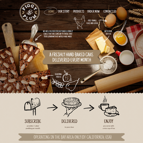 Online brand identity for baked good subscription sevice