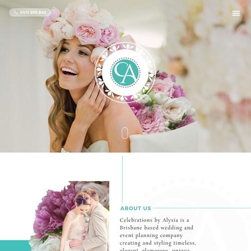 Luxury wedding planner needs new Website Design