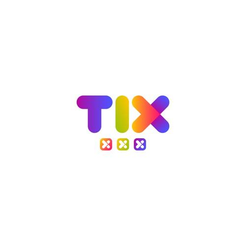 Bold concept logo of TIX