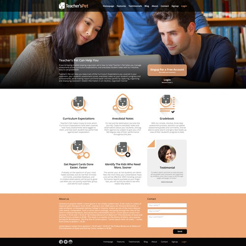 Design an awesome site to match the awesome software it is promoting