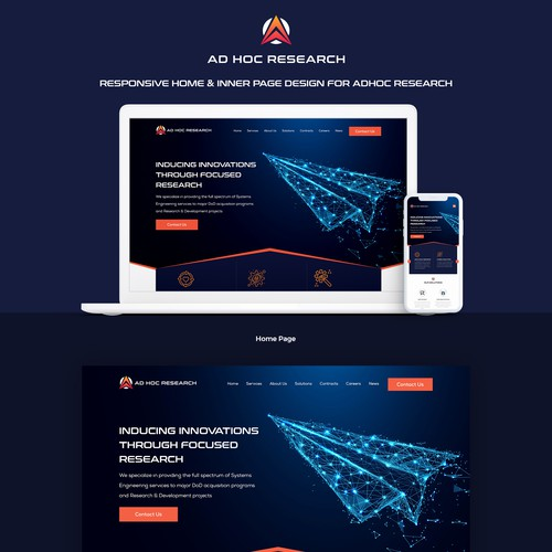 Adhoc research website design