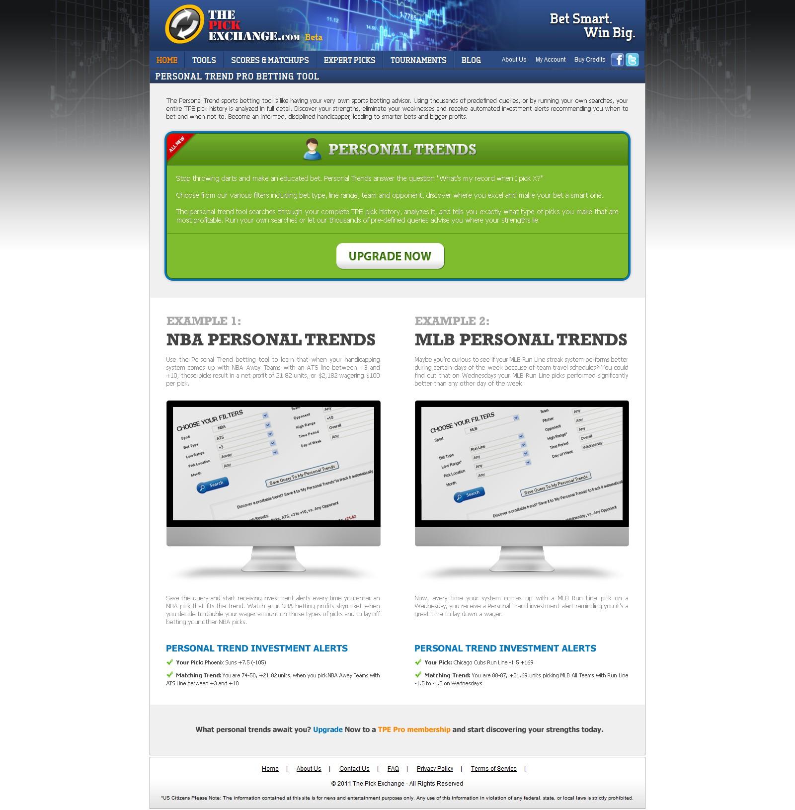 Sports website needs fresh page design