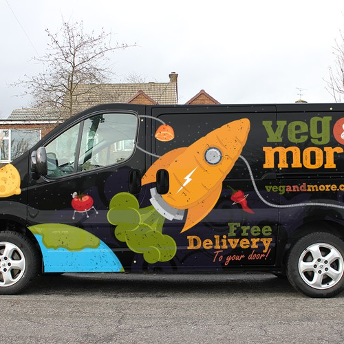 Veg & More needs an eye catching design for their van!  LARGE GUARANTEED PRIZE MONEY. Get creative!!