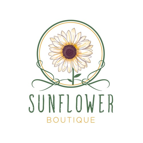 Sunflower Boutique Logo Design