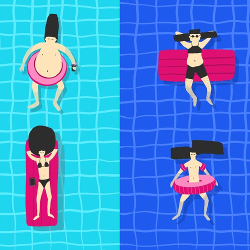 ''Crazy haircuts on floaties''
