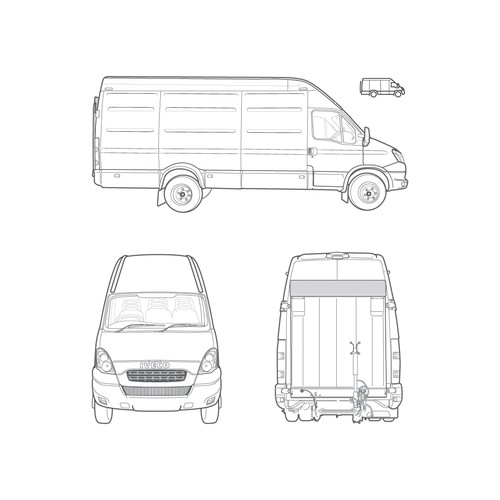 Vehicle Illustration + Icon counterpart