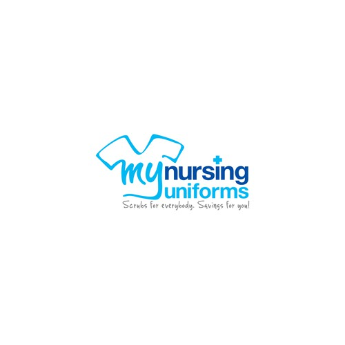 Can you make a modern, feminine logo for MyNursingUniforms?