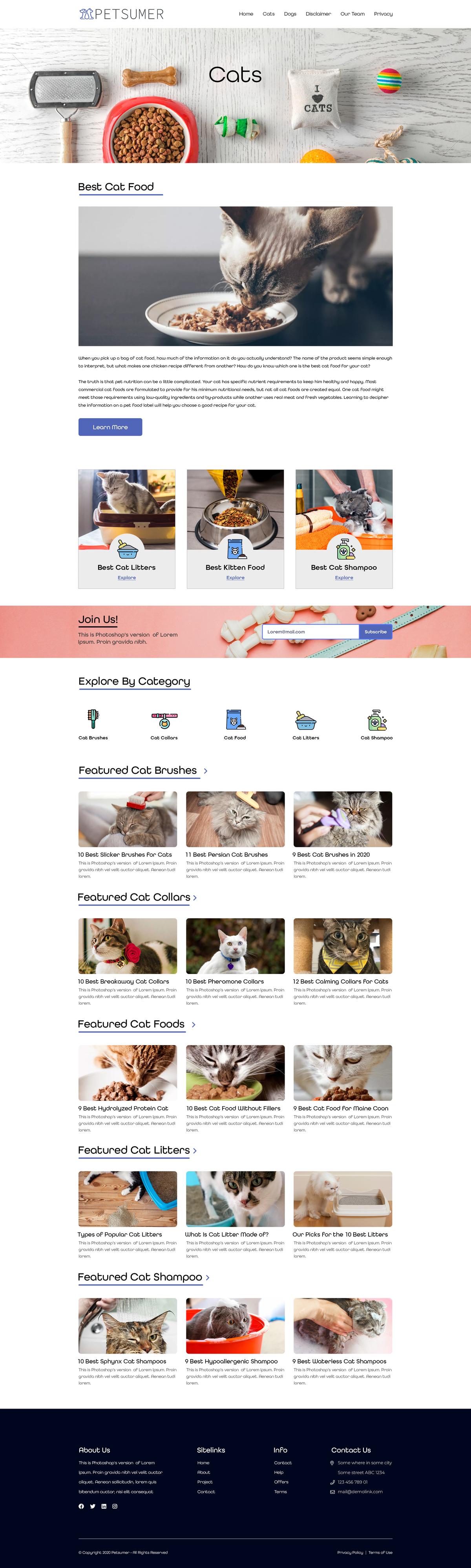 Custom Category Page Design & Code