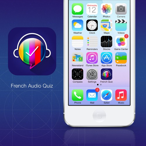 Icon for French learning app for iPhone