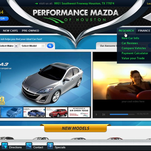 Create the next website design for Performance Mazda of houston