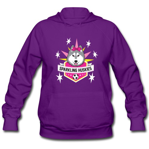 Sparkling Huskies Hoodie