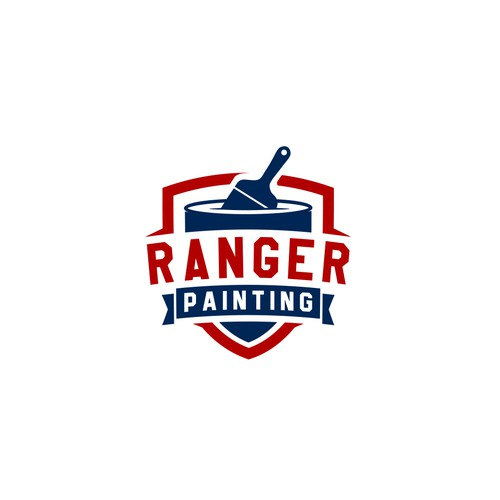 Classic badge logo for painting company