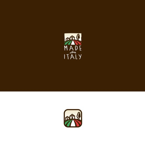 Logo for exciting new startup selling Italian food and wine in London