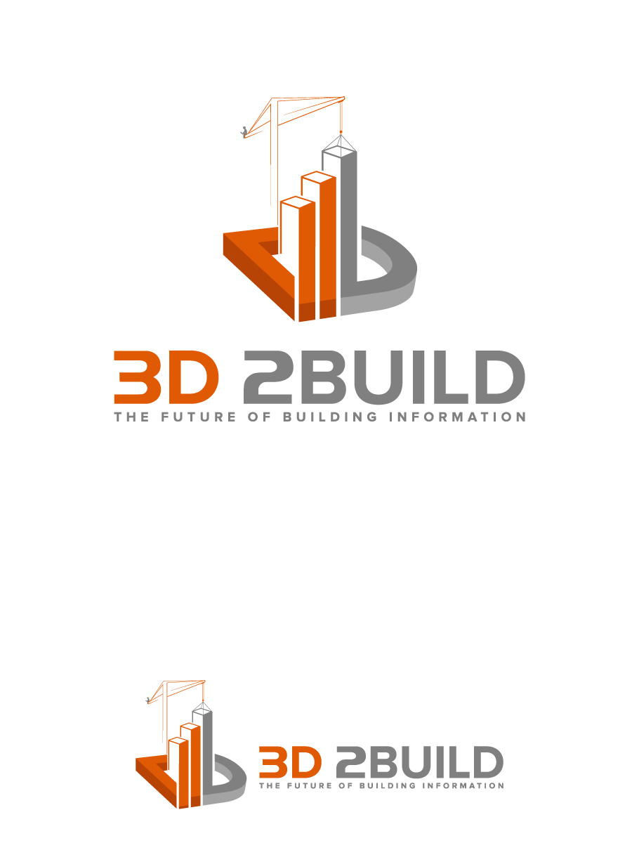 Create a modern, funny illustration of 3d virtual models of buildings