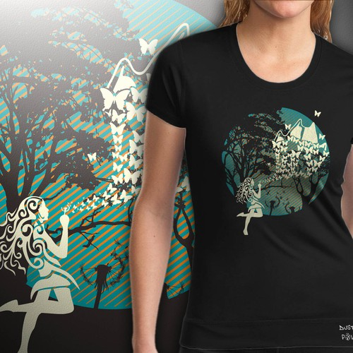 woman t shirt design
