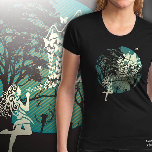 woman t shirt design