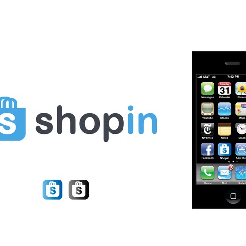 Create a logo for social ecommerce site SHOPIN