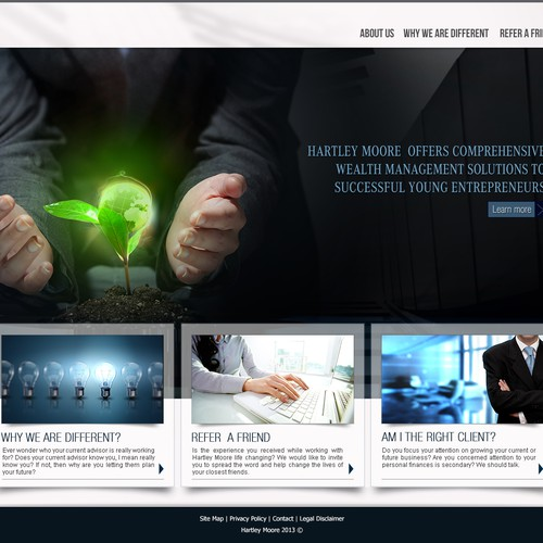 Hartley Moore Wealth Management, LLC needs a new website design