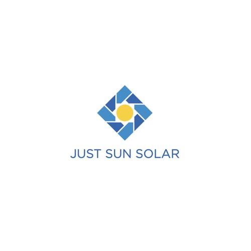 Logo concept for Just Sun Solar