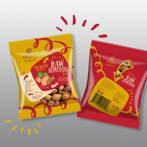 Raw almonds package