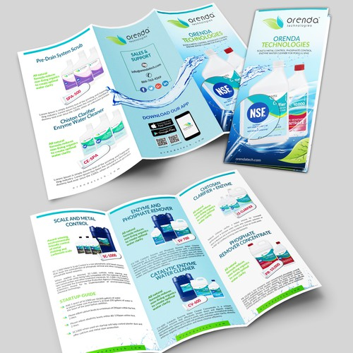 Redo our eco-friendly pool chemical brochure from scratch