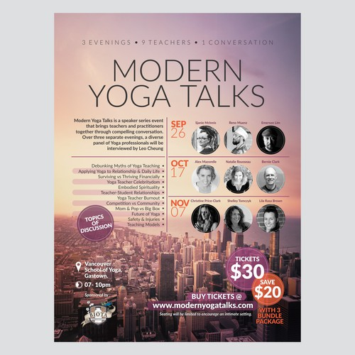 Poster for Yoga Seminar and Talkshow
