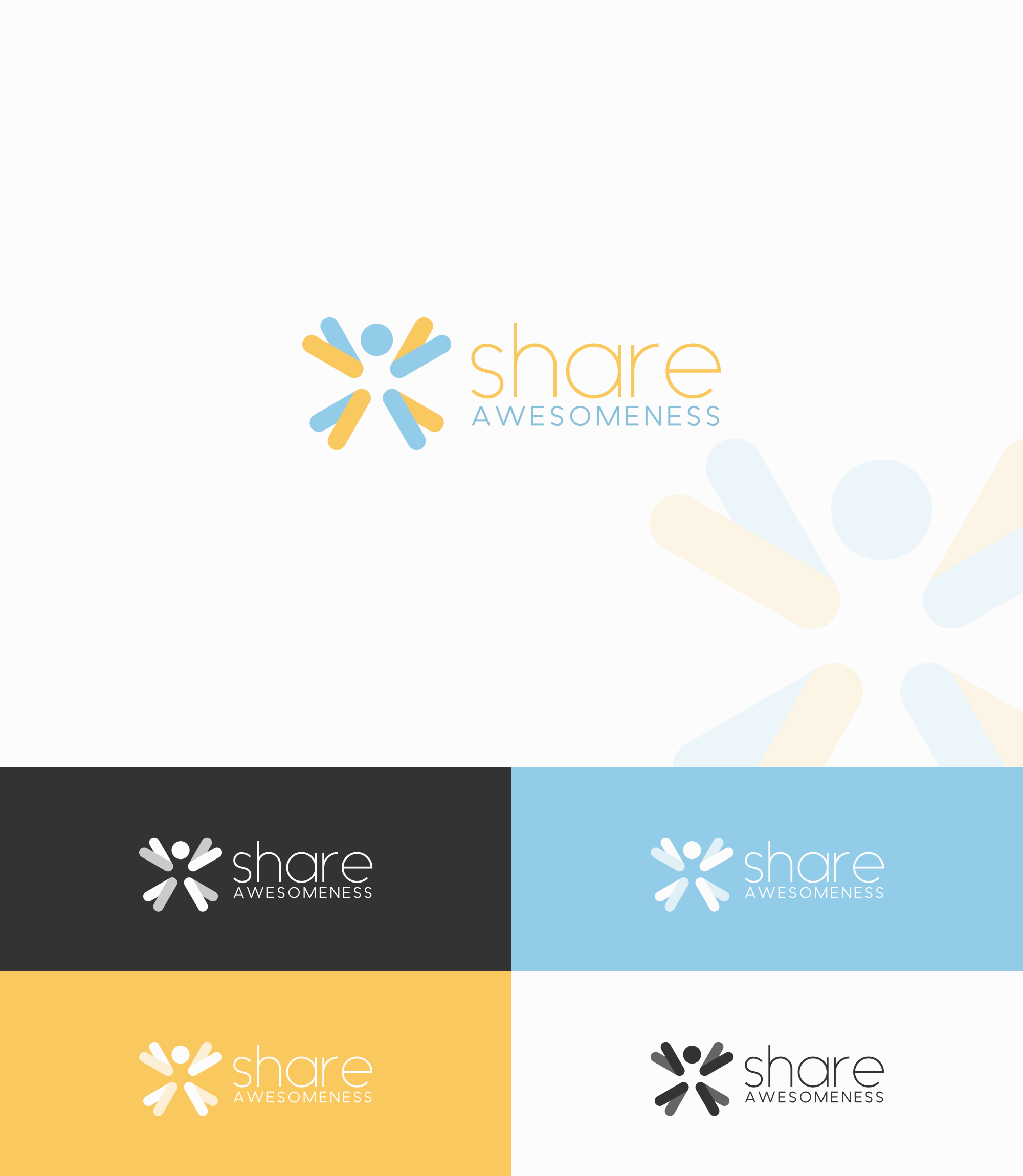 Create a logo for new, fun, inspiring, awesome website of personal development.