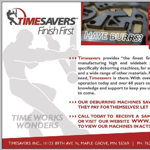 Advertisement: TimeSavers Finish First