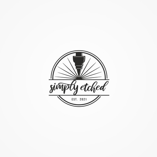 logo for simply etched
