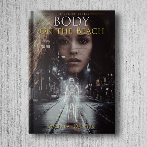 "novel cover for ""Body on the Beach"""