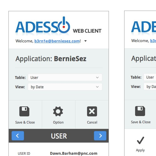 Adesso Web Client App Re-Design