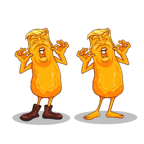 Trump Cheese Puff Illustration