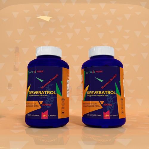 Resveratrol label