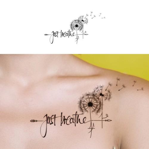 Tattoo Design with dandelion