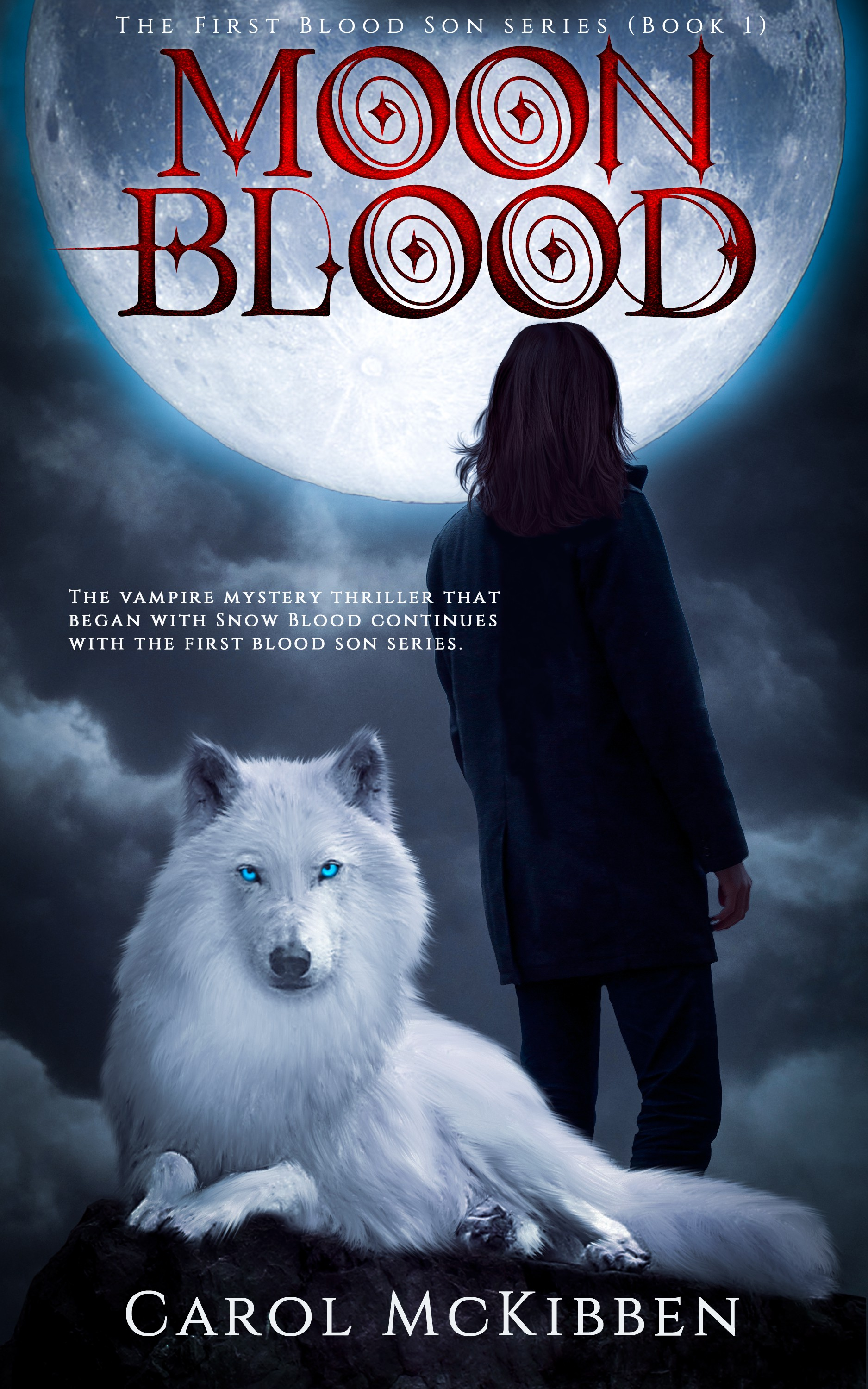 Moon Blood *Fantasy* *Thriller* the first cover for a new series!