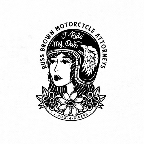Sticker for Traditional Female Motorcycle Riders.