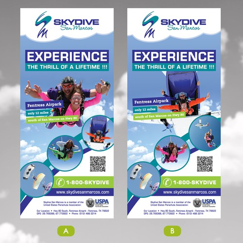 Flyer variations for Skydive San Marcos