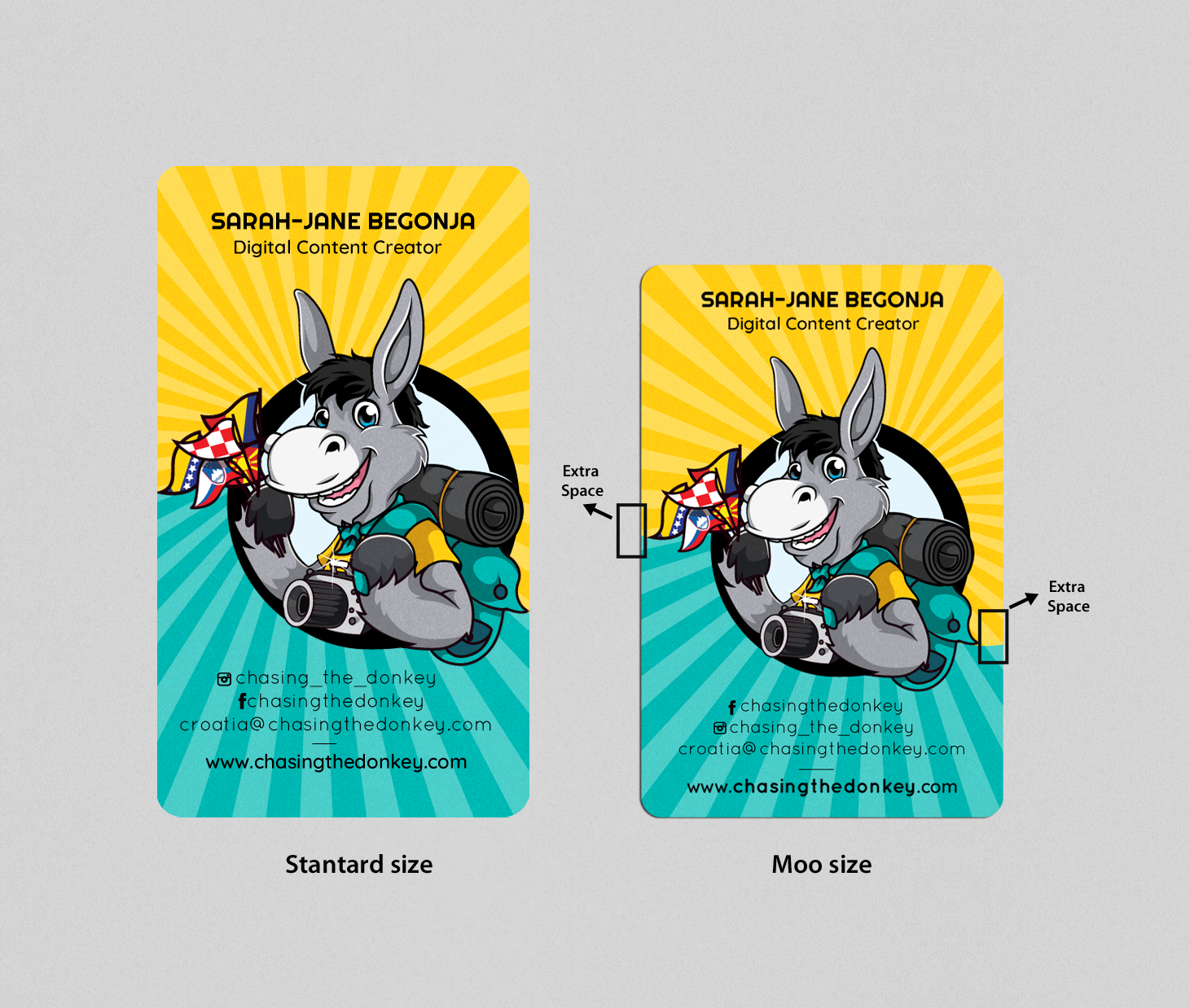 DONKEY BIZ CARD - BE FUN AND PLAYFUL