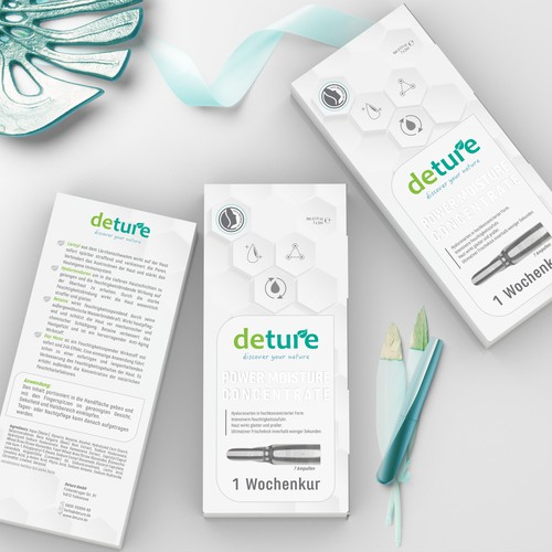 Packaging design for natural but luxery productline