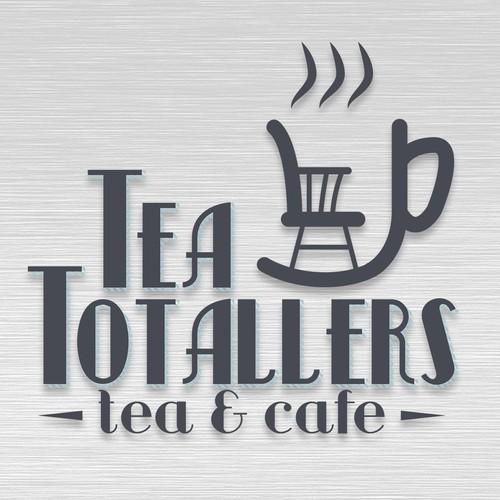Vintage Logo concept for tea house