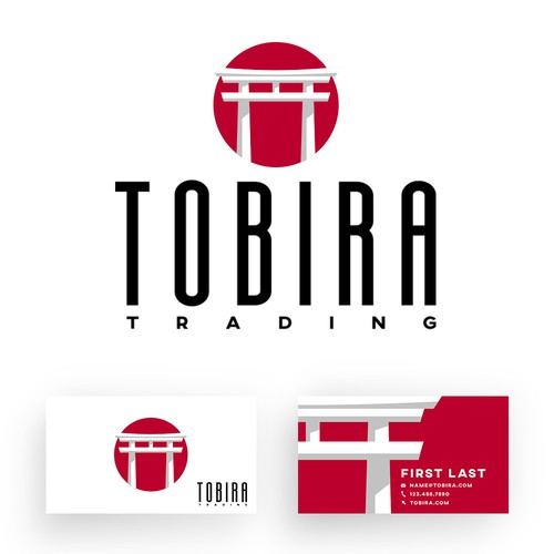 Concept Japanese style gate logo and business cards