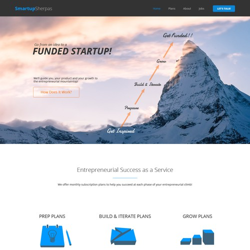 Website for Innovative Startup Accelerator.