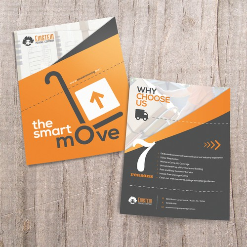 Clean, Minimalist Flyer for Moving Company