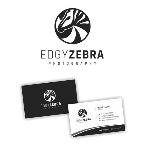 Logo Design for Edgy Zebra Photography